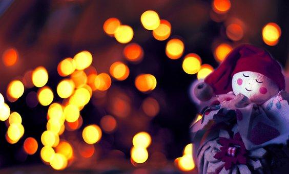 Christmas Elf, Decoration, Festive, Background Blur