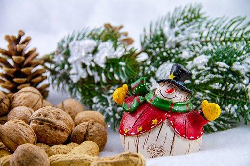 Snowman, Christmas, Advent, Figure, Decoration