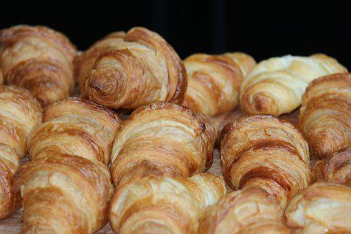 Croissant, Baked Goods, Breakfast, Eat, Food, Delicious