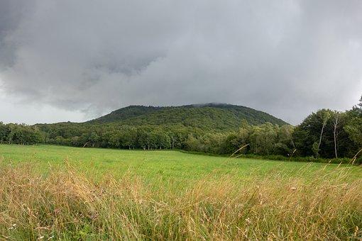 Nature, Auvergne, Fields, Landscape, France, Holiday