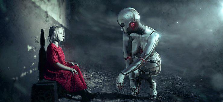 Fantasy, Android, Girl, Science Fiction, Encounter