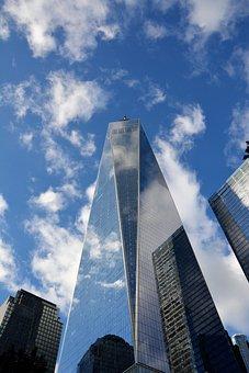 Nyc, Wtc, Usa, Architecture, Skyscraper, Sky, Glass