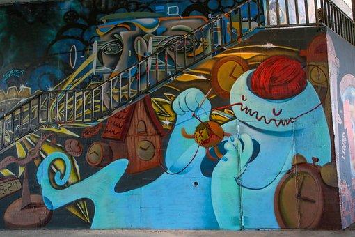 Grafitti, Subculture, Spray, Sprayer, Art, Color