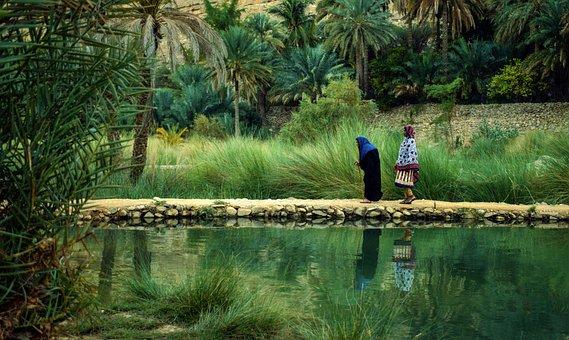 Oman, Nature, Aging, Culture, Lake, Heaven In Desert