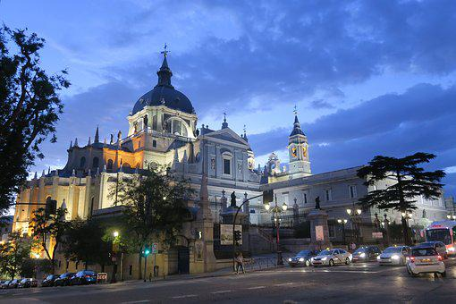 Sunset Cathedral, Heritage, Madrid