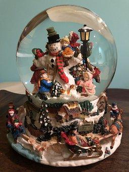 Snow Globe, Christmas, Season, Holiday, Winter