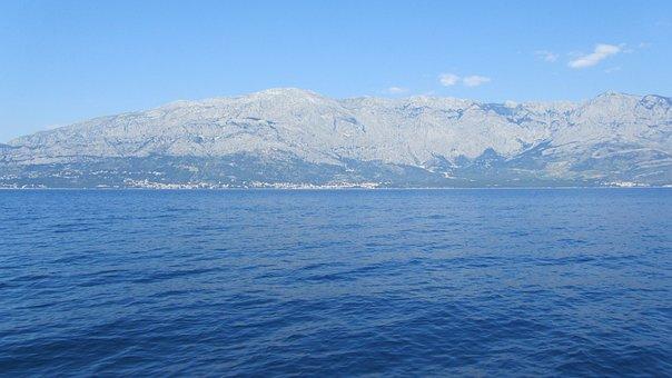 Sea, Mountain, Landscape, Water