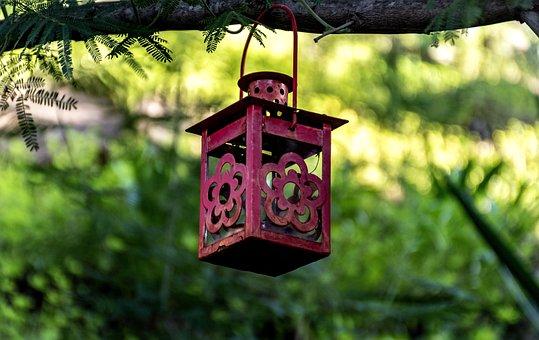Hanging Lantern, Lamp, Garden Decor, Gardening, Lush