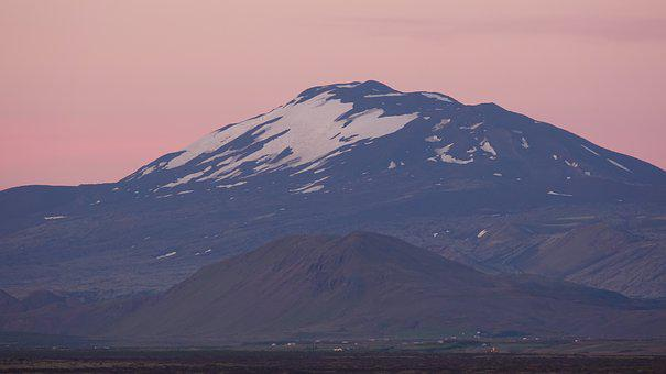 Hekla, Iceland, Midnight Sun