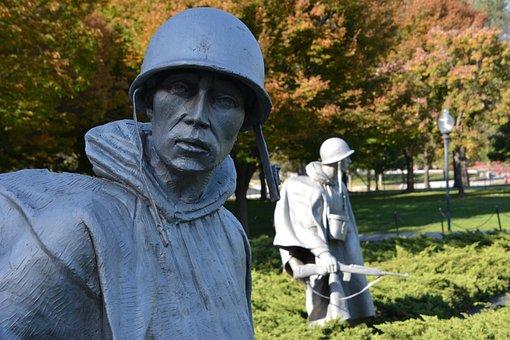 Washington, War, Soldier, Statue, Sculpture, Military