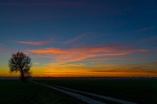 Mood, Sunset, Sky, Abendstimmung, Dusk, Landscape