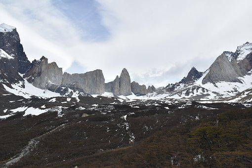 Patagonia, Torres Del Paine, National Park, Mountains