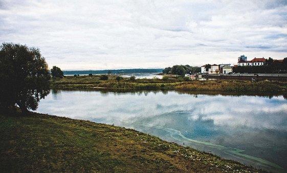 Water, River, Landscape, Nature, Clouds, Sky