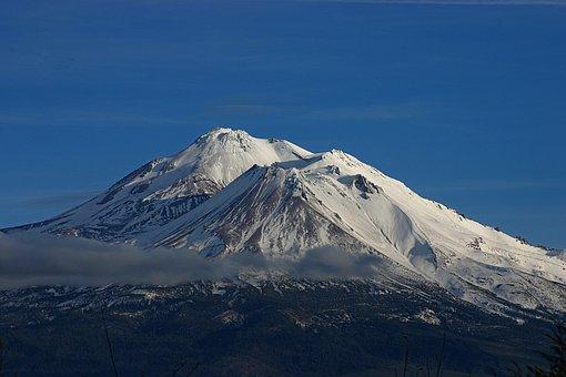 Mount Shasta, California, Northern, Majestic, Mountain