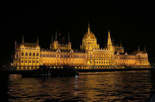 Budapest, Parliment, Night Cruise, Danube, River