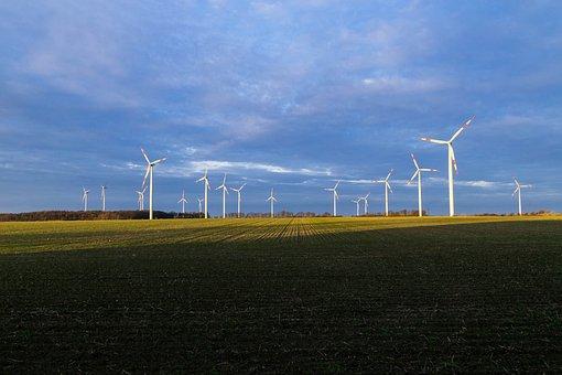 Autumn, Wind Energy, Sky, Pinwheel, Landscape