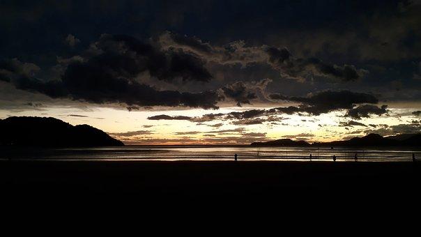 Sunset, Beach, Santos, Quissak