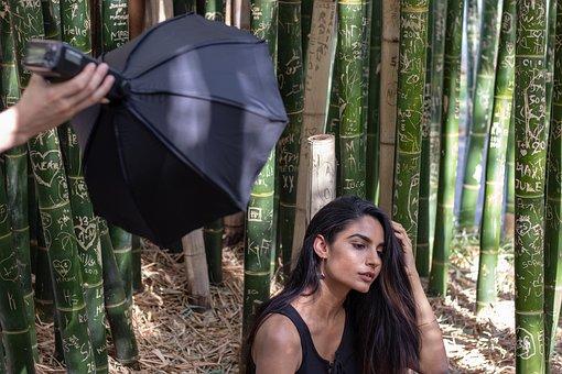 Girl, Light, Box, Photography, Model, Scene