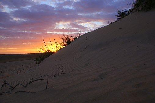 Beach, Sunset, Sea, Landscapes