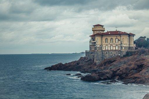 Leghorn, Castle Mug, Sea, Tuscany, Nature, Waters