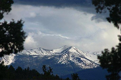 Mountain, Snow, Landscape, Northern, California, Nature