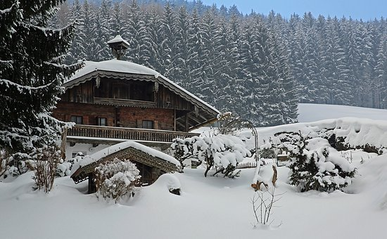 Winter, House, Trees, Landscape, Snow, White