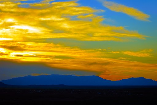 Sunset From Oliver Lee Park, Sunset, New, Mexico