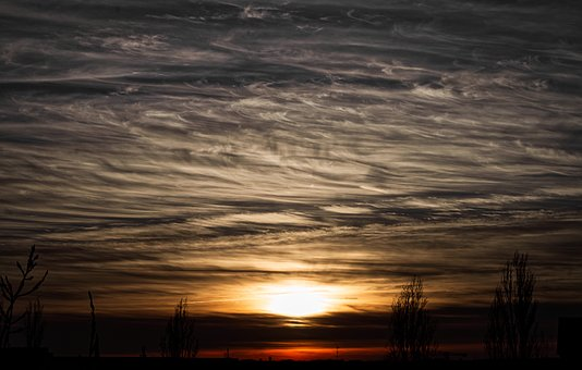 Sky, Clouds, Sunset, Weather, Atmosphere