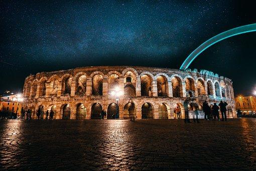 Verona, The Arena Of Verona, Monument, Tourism, Italy