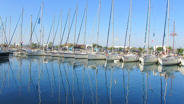 Sail, Boats, Sea, Blue, Rest, Vacations