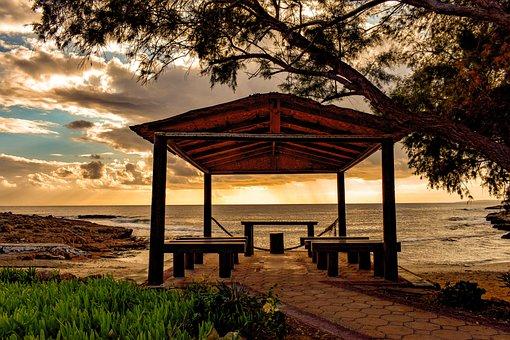Beach, Sunset, Wedding Beach, Sea, Scenery, Sky, Clouds