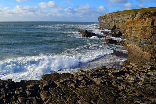 Nature, Sea, Rock, West Coast, Ireland