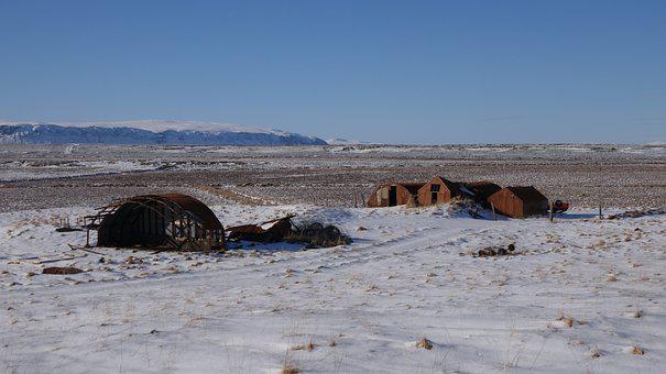 Old Farm, Winter In Iceland, Old Times