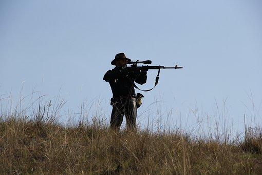 Pistol, Gun, Hunter, Soldier, War, Airsoft
