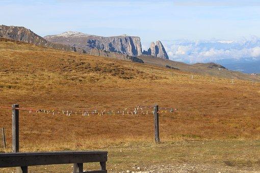 Meadow, Mountains, View, Alpine, Panorama, South Tyrol