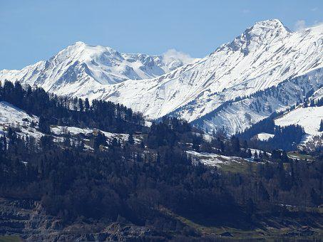 Alpine, Mountains, Landscape, Snow, Winter, Nature, Sky