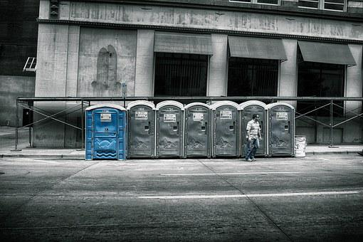 Tulsa, Blue, City, Usa, Toilet, Portable, Arbys