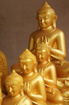Buddha, Gold, Buddhism, Asia, Gilded, Transcendence
