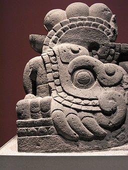 Aztec, Old, Monolith, Prehispanic, Culture, Mexican