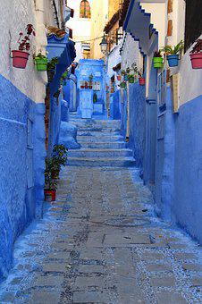 Blue City, Old Town, Chefchaune, Morocco, Stone