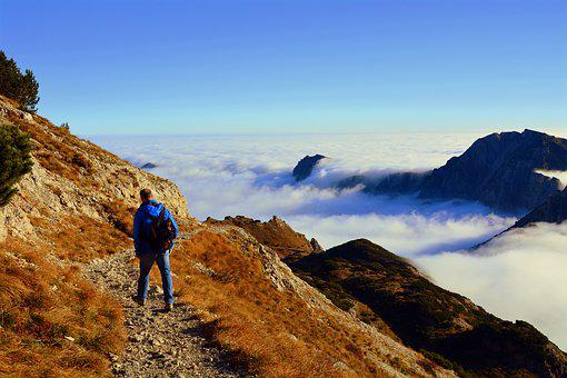 Walk, Clouds, Excursion, Mountain, Carega