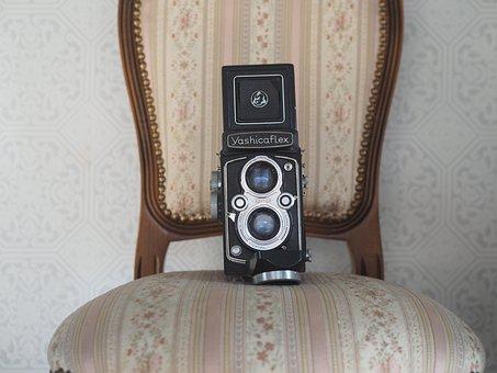 Camera, Chair, Twin-lens Reflex Camera, Yashica Flex