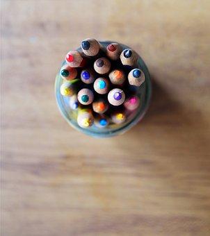 Art, Background, Color, Colors, Pencils, Creative