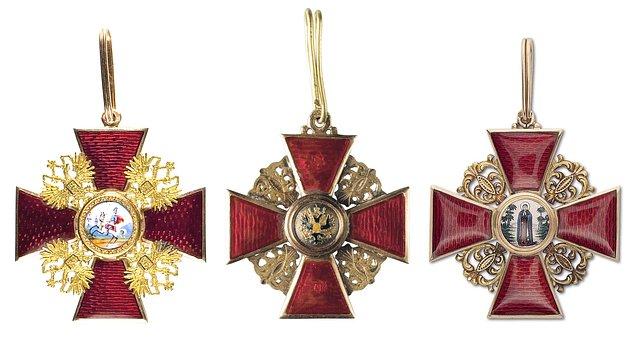 Russian Empire Order, Decoration, Cross, Royal Award