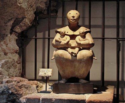 Guatemala, Antigua, Statue, Twins, Discomfort, Art