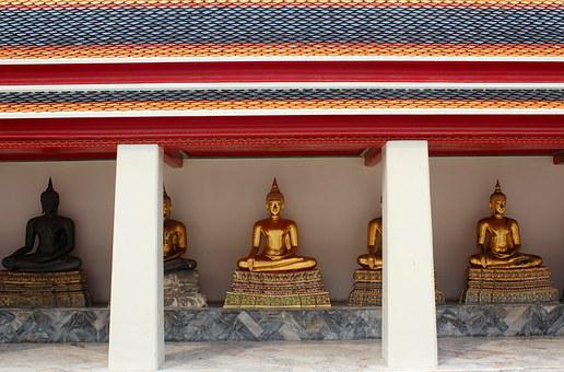 Buddha, Gold, Meditation, Buddhism, Asia, Golden Buddha