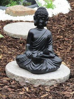 Statue, Fig, Buddha, Sculpture, Face, Head, Black