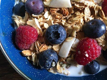 Cereal, Granola, Milk, Organic, Healthy, Fibre, Local