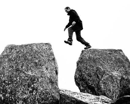 Man, Jumping, Tryfan, Wales, Rock, Hiking, Walking