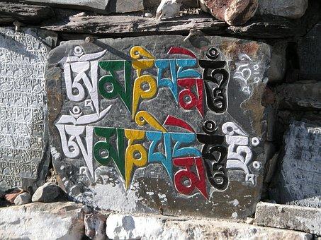 Mantra, Nepal, Buddhist, Himalayas, Annapurna Circle